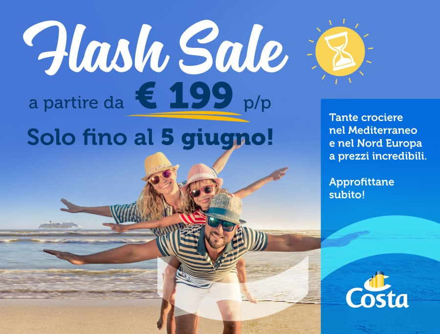 Promo Flash Sale Costa Crociere 199 euro