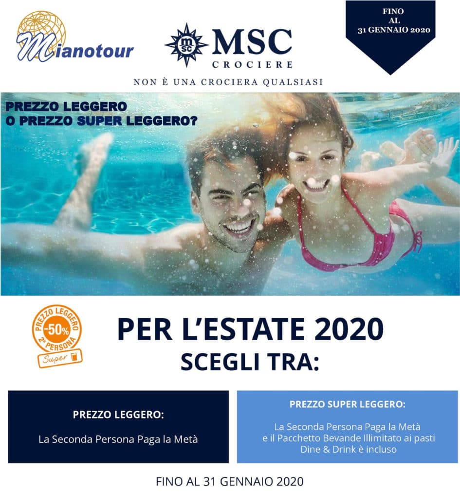 prezzo leggero estate 2020 msc